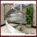 Escaliers de cercle en verre Tempered d'économie de l'espace (DMS-1069)