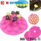 18 tazze di figura rotonda del cioccolato del Lollipop della muffa del silicone