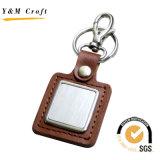 Trousseau de clés de cuir de promotion personnalisé par fournisseur de la Chine