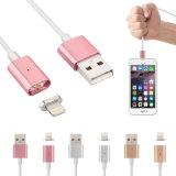Aufladung die Handy-Zeile umsponnenes magnetisches USB-Nylonkabel