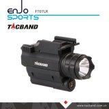 Lanterna tática de LED com ponteiro de visão laser vermelho para arma