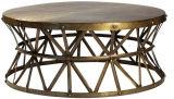 Tavolino da salotto rettangolare del metallo Hzct014, ottone