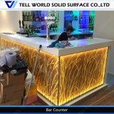 La meilleure barre de vente de compteur de système de café de bureau de réception d'argent comptant de café d'éclairage de DEL