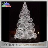 다채로운 광고 방송 3D LED 가벼운 크리스마스 훈장 공 나무