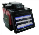 Il professionista ha fatto la giuntatrice di telecomunicazione della fibra lavorare (DVP-740)