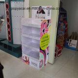 Displays de papelão de papelão ondulado para alimentos, ponto de compra Racks de papelão