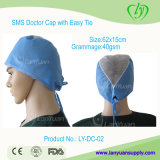 Desechables PP Nowoven Doctor Cap con Easy Ties