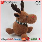 クリスマスのプラシ天のおもちゃのトナカイ