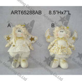Het bevindende Witte en Gouden Stuk speelgoed van Decortion van het Huis van Kerstmis