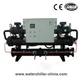 Refrigerador de refrigeração água do parafuso da baixa temperatura para a indústria da bebida & da bebida