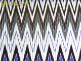 Tela de tapicería impresa zigzag hecha punto del terciopelo