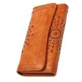 leather Purse 여자의 숙녀 신용 카드 클러치 홀더 긴 지갑