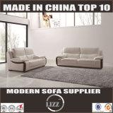 Bianco stabilito Lz780 del sofà moderno del cuoio genuino