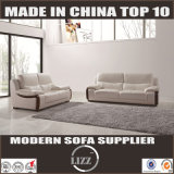 Sofa véritable moderne de cuir blanc (Lz780)