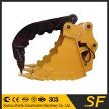 El excavador parte el compartimiento del pulgar, compartimiento del gancho agarrador del excavador