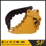 A máquina escavadora parte a cubeta do polegar, cubeta da garra da máquina escavadora