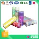 العرف يمكن التخلص منها البلاستيك البولي إثيلين المنخفض الكثافة حقيبة القمامة على لفة