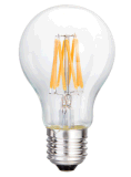 La lámpara 3.5With5.5With6.5W de A19/A60 LED borra el vidrio E26/E27/B22 que amortigua el bulbo