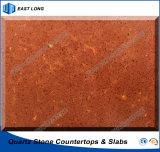 Het duurzame Bouwmateriaal van de Steen van het Kwarts Voor Countertops van de Keuken met (Bruin) Ce- Certificaat