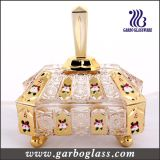 Oro Candy Jar, Glass Sugar Pot a colori Box Packing (GB1802S-DN)