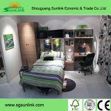 Muebles del dormitorio de la Acero-Madera de la alta calidad (G34A)