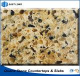 세륨 증명서 (브라운)를 가진 부엌 싱크대를 위한 튼튼한 석영 돌 건축재료