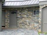 Panneau jaune de pierre de rebord de quartzite pour le revêtement de mur