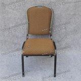Frame escuro do ferro da tela Yc-Zg45-1 que janta a cadeira do quarto de hotel