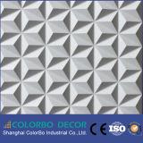 Los paneles de madera de la placa 3D de la onda de la decoración casera