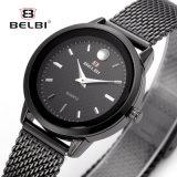 Manier van de van het Bedrijfs paar van Belbi Horloge van de Liefde van het Roestvrij staal van het Gezicht van de Spijker van het Horloge het Toevallige Eenvoudige Waterdichte