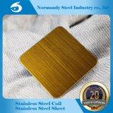 Feuille d'acier inoxydable de fini d'ASTM 410 Hl/No. 4 pour la décoration et la construction de vaisselle de cuisine