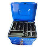 Contenitore di soldi con il contenitore doppio chiave di cassaforte della serratura