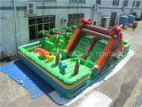 Riesiger aufblasbarer Dinosaurier-Spielplatz, Spaß-Stadt für Verkäufe