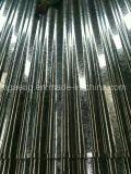 Hdgi laminó la hoja de acero galvanizada acanalada del material para techos para Ghana