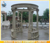 Granite Outdoor Gazebo avec sculpture