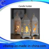 Supporto di candela creativo del metallo per la decorazione di natale