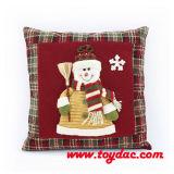 Coussins bourrés de Noël de bonhomme de neige
