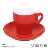 Taza y platillo de café de dos tonos
