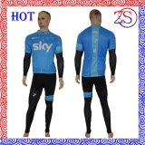 100% Polyester Man's Short Sleeve Cycling Jersey Sportswear