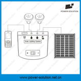 4W 11V 태양 전지판 2개의 빛 이동 전화 충전기를 가진 휴대용 가정 태양 조명 시설