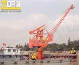 Sich hin- und herbewegender Kran/Dock-Kran/Lastkahn-Kran/Hebevorrichtung-Kran/Portkran
