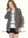 Wolljacke-Strickjacke der Soem Dame-Fashion Hot Sales Long (W17-744)