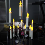 Battery를 가진 플라스틱 LED Light Tall Church Candles