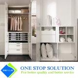 Alti armadi bianchi dei guardaroba della mobilia della camera da letto della porta a battenti di lucentezza 2PAC (ZY 2016)