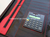 PVC Leather Folio Caso di Matching di colore con Zipper Around