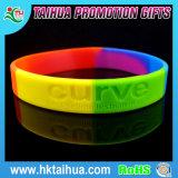 O melhor bracelete duplo popular do silicone da fluorescência da cor
