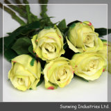 Wedding Decorationのための卸し売りYellow Silk Artificial Flowers