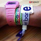 Bracelet tissé réglable d'IDENTIFICATION RF de tissu de modèle neuf pour Cencert