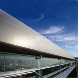 PVDF Beschichtung-Aluminiumbienenwabe gebogene dekorative Wände