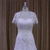 com a luva do Short do vestido de casamento do revestimento